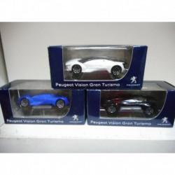 PEUGEOT CONCEPT CAR VISION GRAN TURISMO 2015 NOIR BLANC BLUE NOREV 3 INCHES