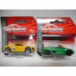 AUDI R8 COUPE YELLOW SPYDER GREEN MAJORETTE 1:64