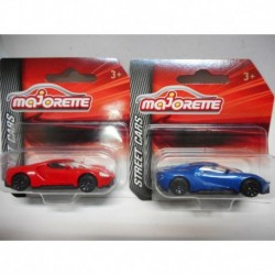 FORD GT RED BLUE MAJORETTE 1:64