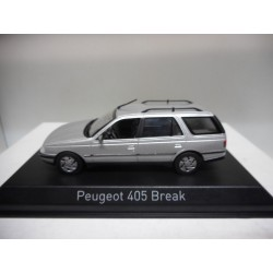 PEUGEOT 405 BREAK 1991 QUARTZ GREY NOREV 474554 1:43