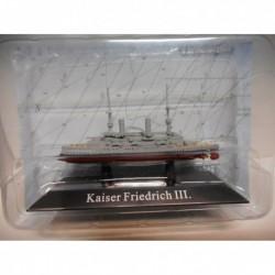 ACORAZADO WARSHIP SMS KAISER FRIEDRICH III 1898-920 1:1250 ATLAS De AGOSTINI n60