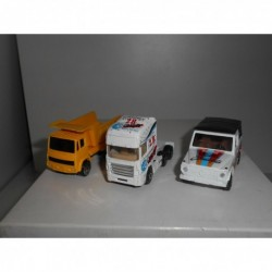 MERCEDES G + TRUCK 3 CARS DIFERENTS 1:64 APX