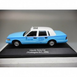 LINCOLN TOWN CAR TAXI WASHINGTON DC 1996 ALTAYA IXO 1:43 HARD BOX