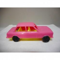 FIAT 128 RALLYE ROSE/YELLOW PLASTIC CAR CGGC MADE IN ITALY 1:48 VINTAGE