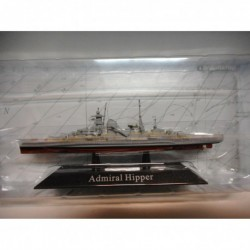 CRUCERO PESADO WARSHIP SMS ADMIRAL HIPPER 1939-45 1:1250 ATLAS De AGOSTINI n16
