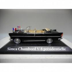 SIMCA CHAMBORD V-8 PRESIDENTIELLE 1961 DEGAULLE / KENNEDY ATLAS 1:43