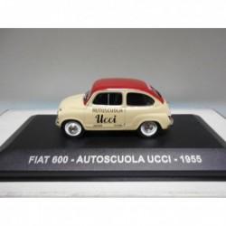 FIAT 600 AUTOSCUOLA UCCI 1955 EAGLEMOSS IXO 1:43