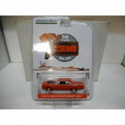 PLYMOUTH ROAD RUNNER HEMI 1968 50 ANNIVERSARY GREENLIGHT 1/64