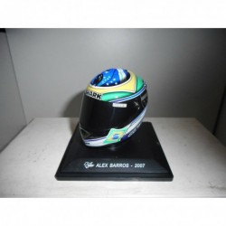 CGP 23 ALEX BARROS 2007 LAST RACE MOTO BIKE GP COLLECTION HELMET ALTAYA IXO 1/5