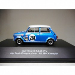 AUSTIN MINI COOPER ALEC POOLE 1969 BTCC CHAMPION BRITISH TOURING ATLAS n10 1:43