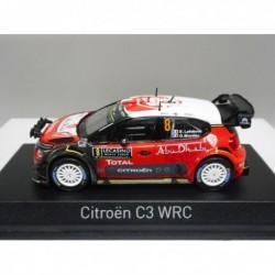 CITROEN C3 WRC RALLY MONTE CARLO 2017 S.LEFEBVRE NIGHT LIGHTS NOREV 155362 1:43