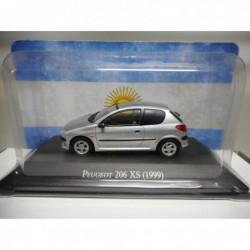 PEUGEOT 206 XS 1999 CLASICOS ARGENTINA SALVAT 1/43