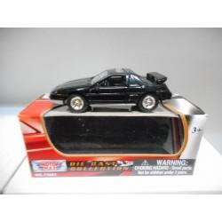 PONTIAC FIERO GT 1985 BLACK MOTOR MAX 1:64