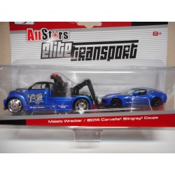 WRECKER GRUA + CORVETTE STINGRAY COUPE 2014 ELITE ALL STARS MAISTO 1/64