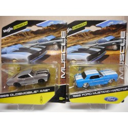MAISTO MUSCLE OLDS 442,FORD MUSTANG MAISTO 1:64