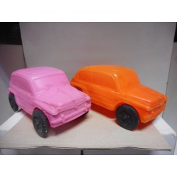 SEAT 600 PLASTICO INFLADO NARANJA, ROSA USADO/SIN CAJA/VER FOTOS