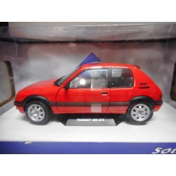 PEUGEOT 205 GTi MK1 RED 1:18 SOLIDO