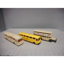 LOT 3 BUS MERCEDES (2), BUSSING WIKING 1:160-N USADOS/SIN CAJA/VER FOTOS