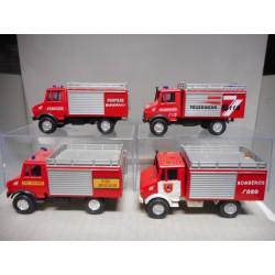 UNIMOG 4X4 FIRE,BOMBEROS,...A ESCOGER 1:43 HONGWELL USADO/SIN CAJA/VER FOTOS