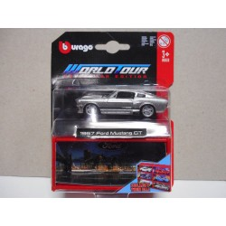 FORD MUSTANG 1967 WORLD TOUR COLLECTOR BBURAGO 1:64