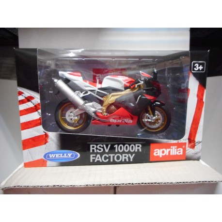APRILIA RSV 1000R FACTORY 1:10 MOTO BIKE WELLY