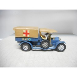 MATCHBOX YESTERYEAR CROSSLEY RAF AMBULANCE 1918 USADO/NO CAJA