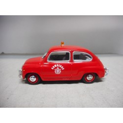 SEAT 600 D BOMBEROS 1966 1:43 SALVAT SOLIDO USADO/NO CAJA
