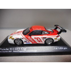 PORSCHE 911 GT3 CUP 24 H DAYTONA 2005 MINICHAMPS 1:43 USADO/URNA ROTA/VER FOTOS
