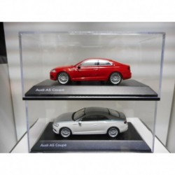 AUDI A5 COUPE RED WHITE DEALER SPARK 1:43